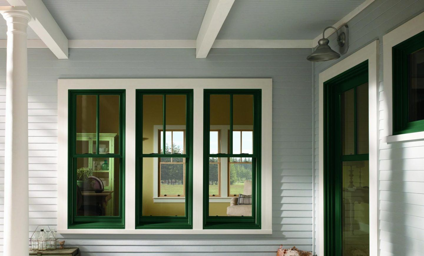 One of our double hung windows in Cincinnati, OH